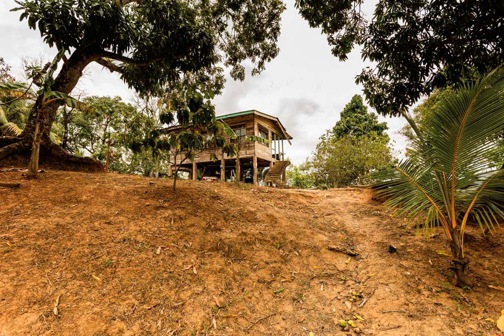 The house on Happy Hill, the spot once inhabited by the first Samuel Elliott, the original headman of Third Company Village when the Merikins settled in south Trinidad two hundred years ago. Photo by Marlon Rouse