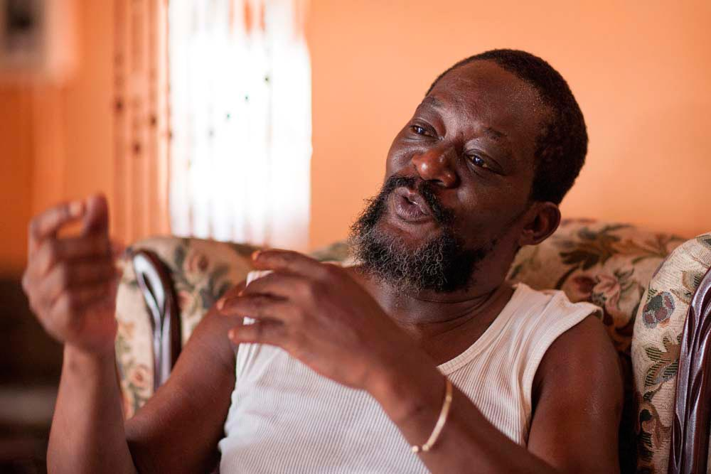 Philip Pierre, Jaramogi's cousin, a descendant of Pa Neezer and, like him, a healer. Photo by Marlon Rouse