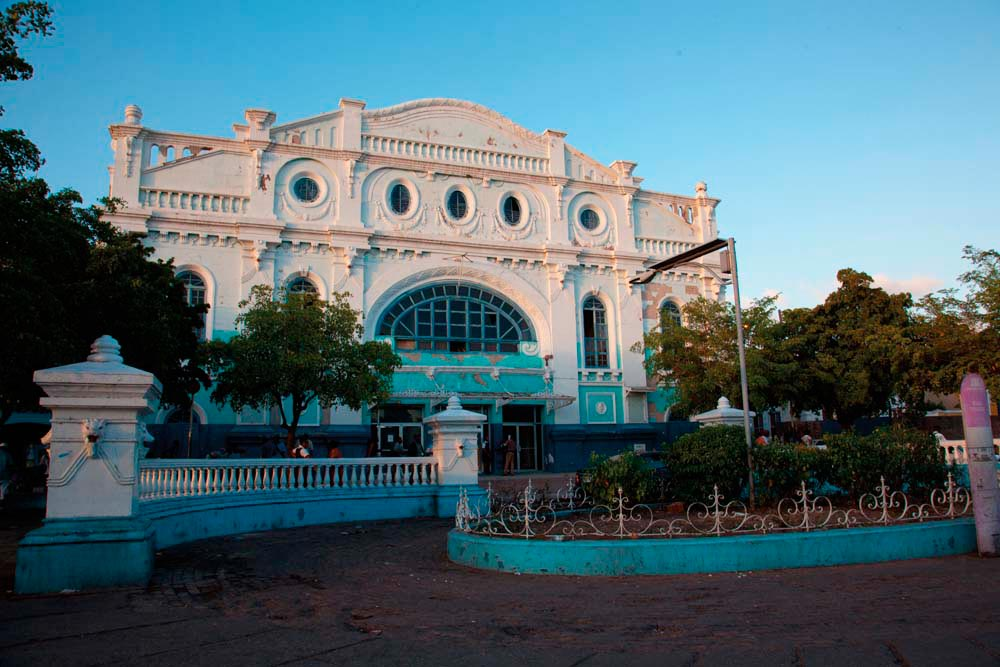 The Ward Theatre on North Parade is a longtime landmark of downtown Kingston. Photo by Pymca/Uig/Getty Images