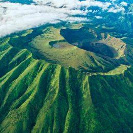 La Soufrière caldera, St Vincent. Photo by Jonathan Palmer/Mustique Airways