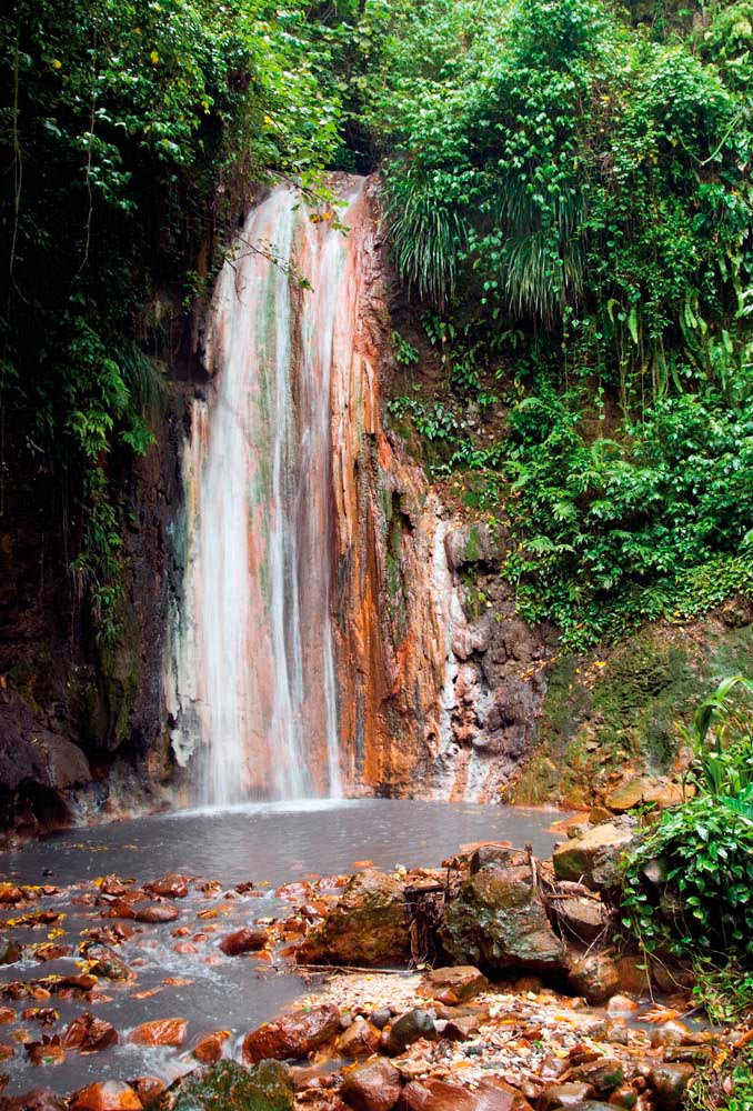 Diamond Falls, St Lucia. Debralee Wiseberg/iStock.com