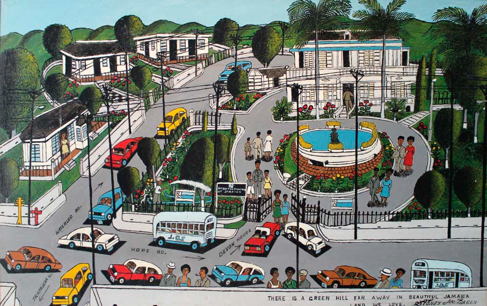 Devon House (mixed media on hardboard, 1979), by Sidney McLaren. Pictures courtesy National Gallery of Jamaica