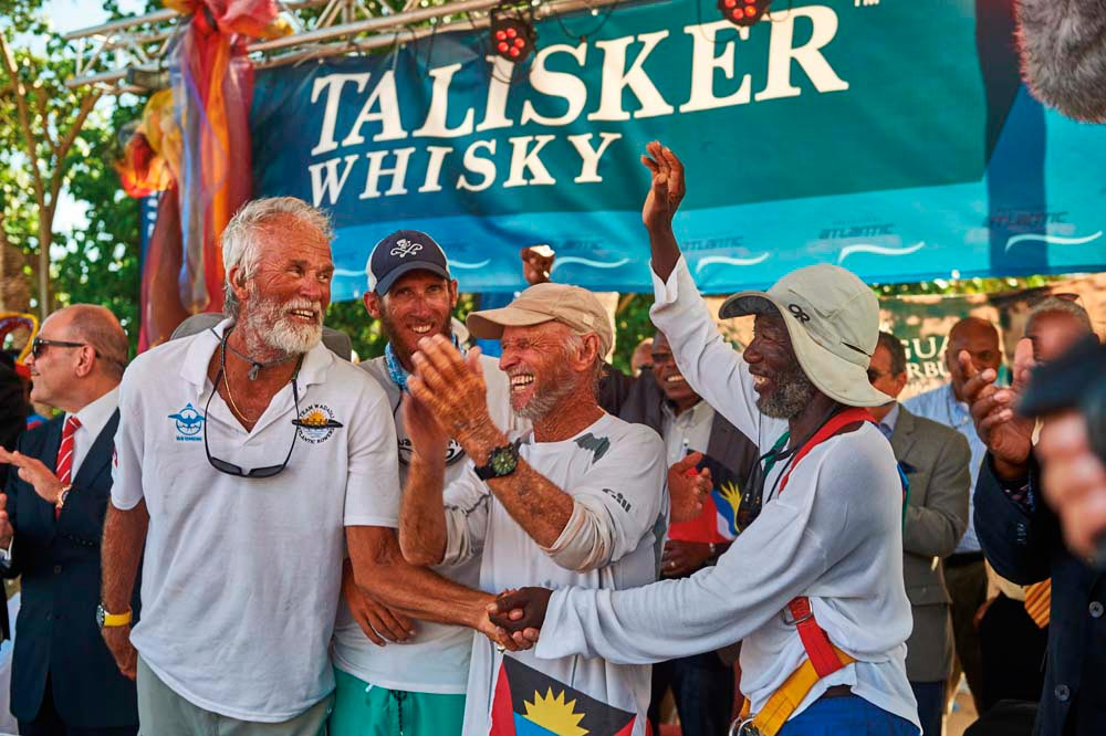 Thousands of well-wishers turned up to welcome Team Wadadli home. Photo by Ben Duffy, courtesy the Talisker Whisky Atlantic Challenge