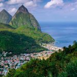 Between the Pitons in St Lucia