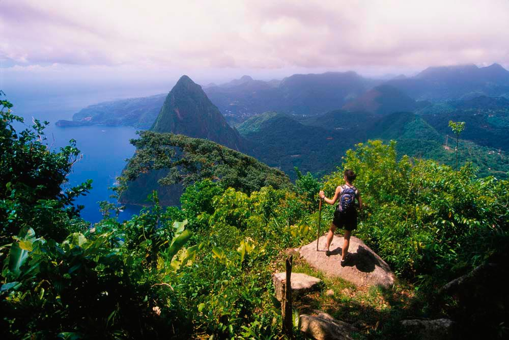 The view from the summit of Gros Piton. Photo by Blaine Harrington III/ Corbis Documentary/Getty Images