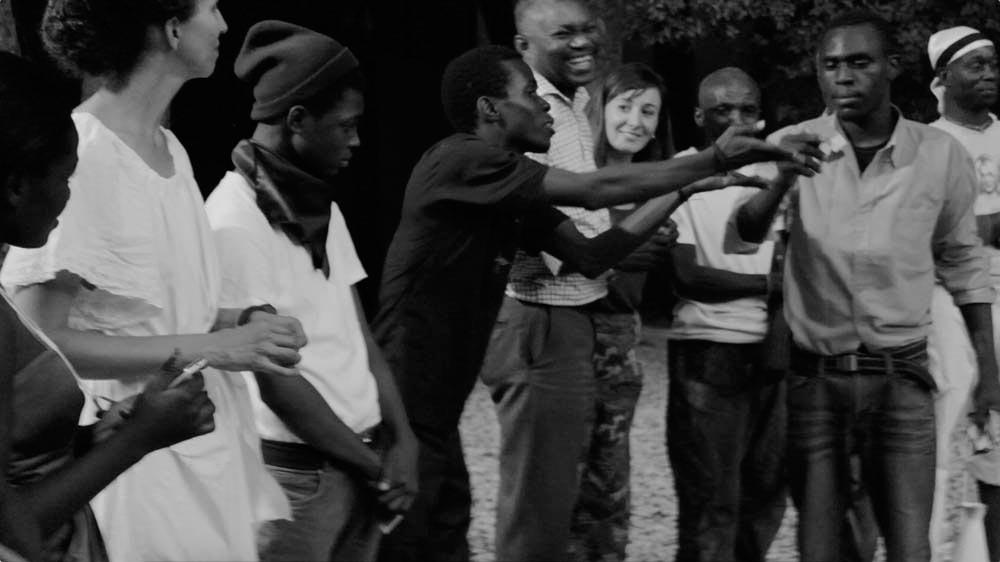 Still from Remedies Haiti, a collaboration between Huber and Petri Saarikko (2016; video, 28 mins). Courtesy Sasha Huber