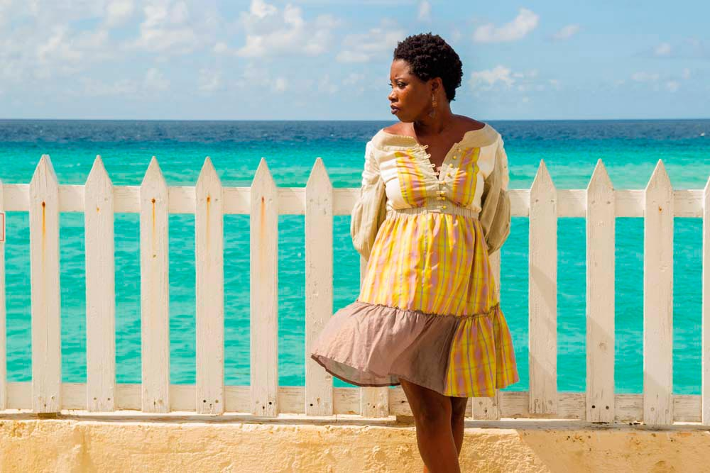Risée Chaderton-Charles at one of her favourite spots on Barbados's south coast. Photo by Russell Watson