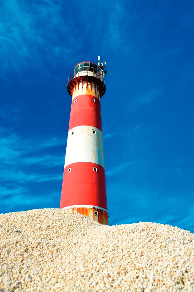 The South Point lighthouse, Barbados's oldest. Photo by Styve Reineck/Shutterstock.com