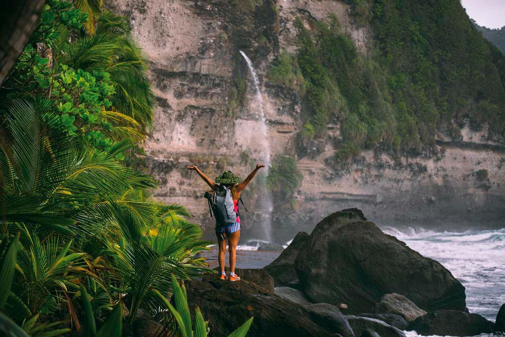 W is for Wavine Cyrique Beach, Dominica. Photo courtesy Discover Dominica Authority