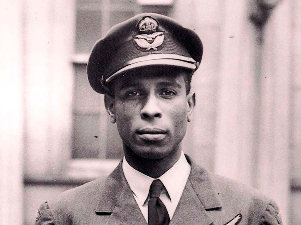 Trinidadian RAF pilot Ulric Cross. Photo courtesy Caribbean Airlines