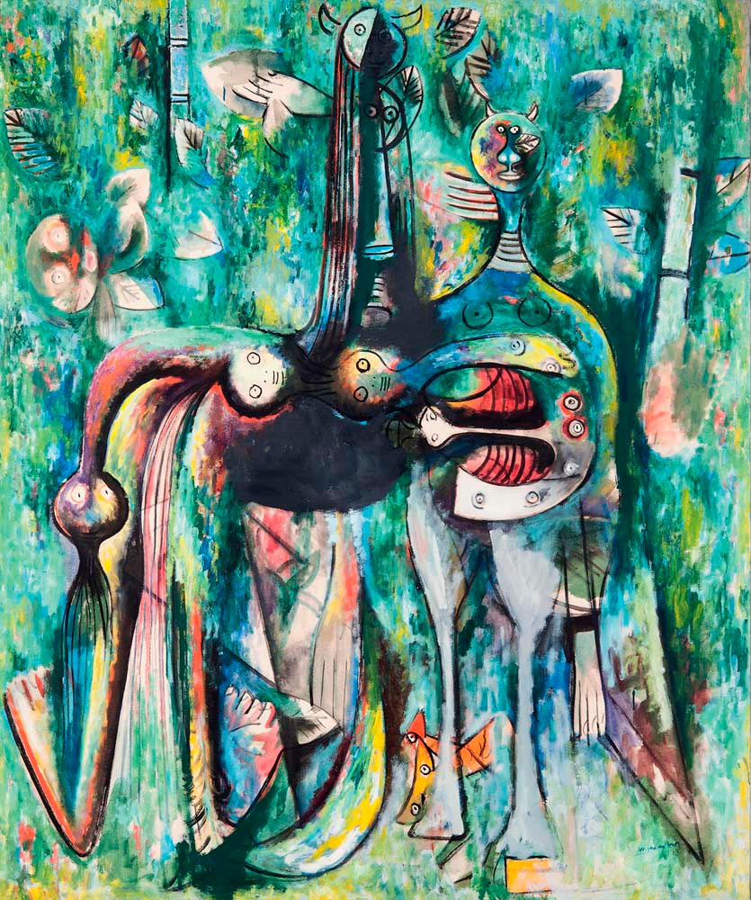 The Sombre Malembo, God of the Crossroads (1943). The Rudman Trust © Sdo Wifredo Lam, courtesy Tate Modern