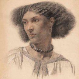 Mrs Fanny Eaton (c.1859; chalk on paper), by Walter Fryer Stocks