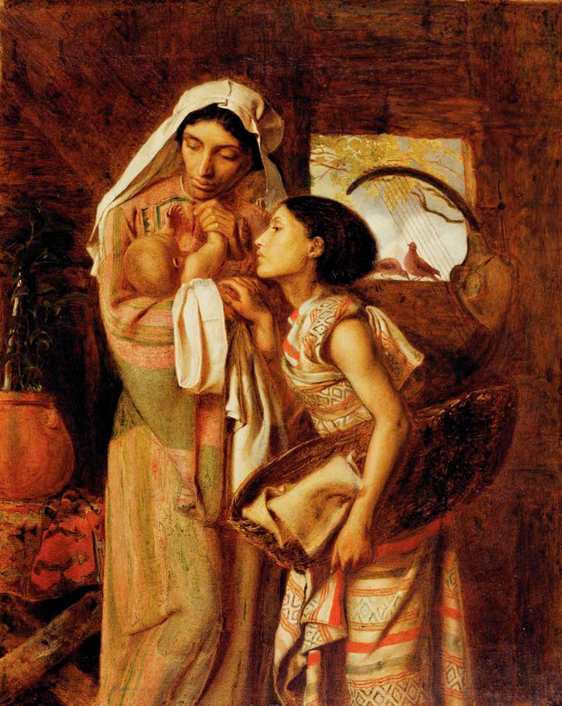 The Mother of Moses (1860; oil on canvas), by Simeon Solomon