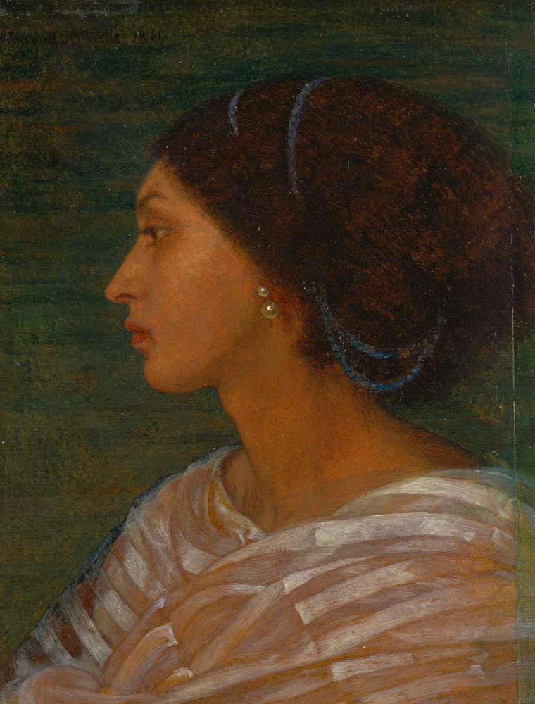 Head of Mrs Eaton (1861; oil on paper laid to linen), by Joanna Boyce Wells