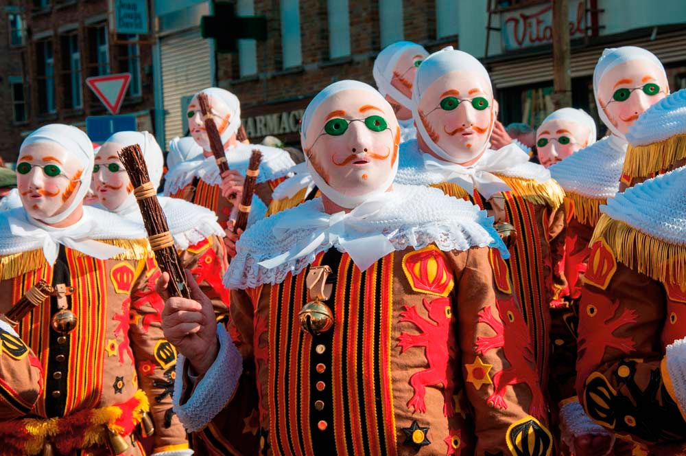 Binche, Belgium. Photo by Weskerbe / Shutterstock.com