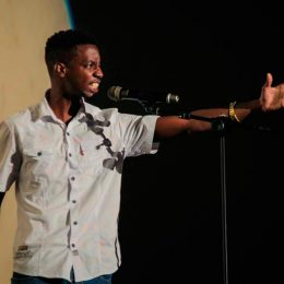 Seth Sylvester, 2016 champion of the First Citizens National Poetry Slam. Photograph courtesy The 2 Cents Movement