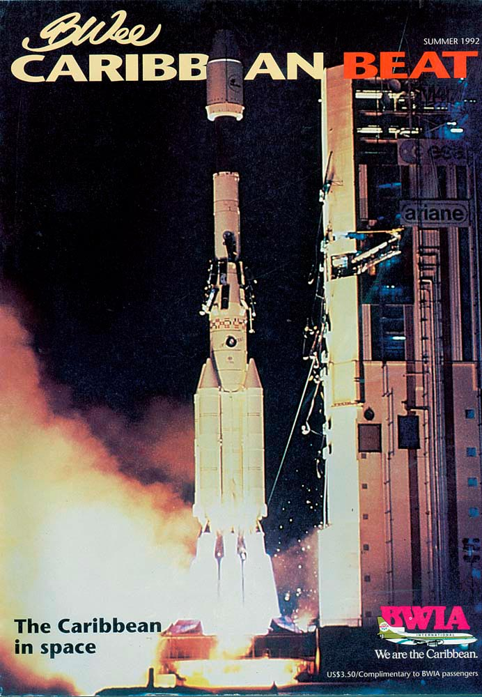 2 • Ariane rocket lifts off from French Guiana, Summer 1992. Photo courtesy Arianespace