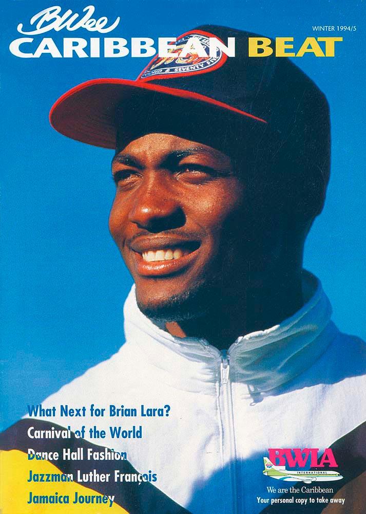 12 • Trinidadian cricket legend Brian Lara, Winter 1994/5. Photo by Shaun Botterill/Allsport