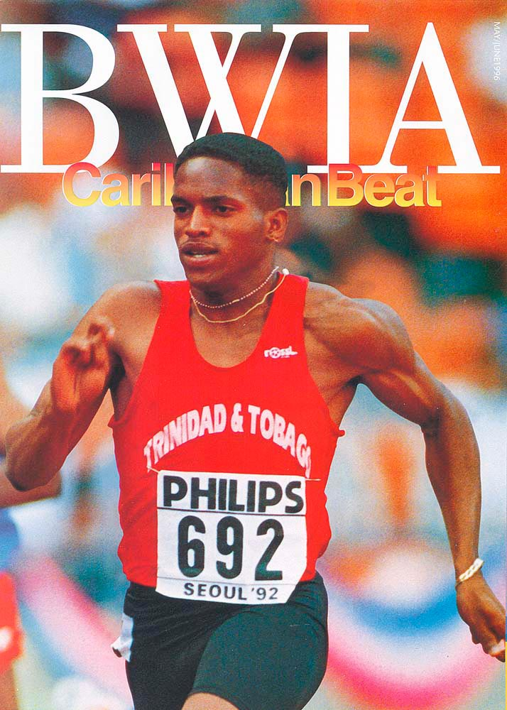 19 • Trinidadian sprinter Ato Boldon, May/June 1996. Photo by Gary M. Prior/Allsport