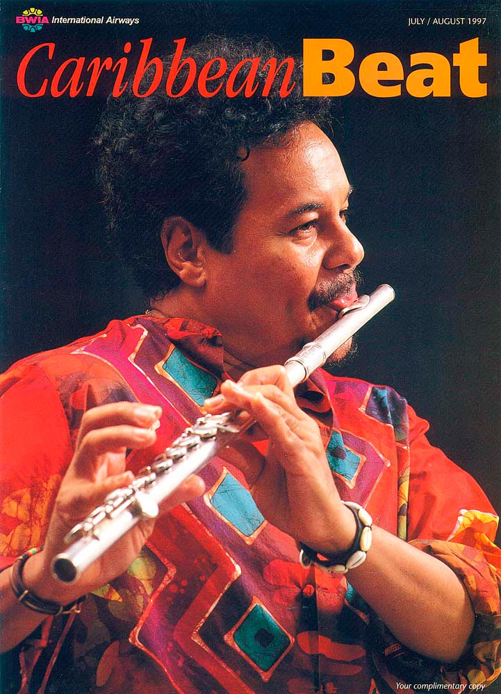 26 • Trinidadian musician André Tanker, July/August 1997. Photo by Mark Lyndersay
