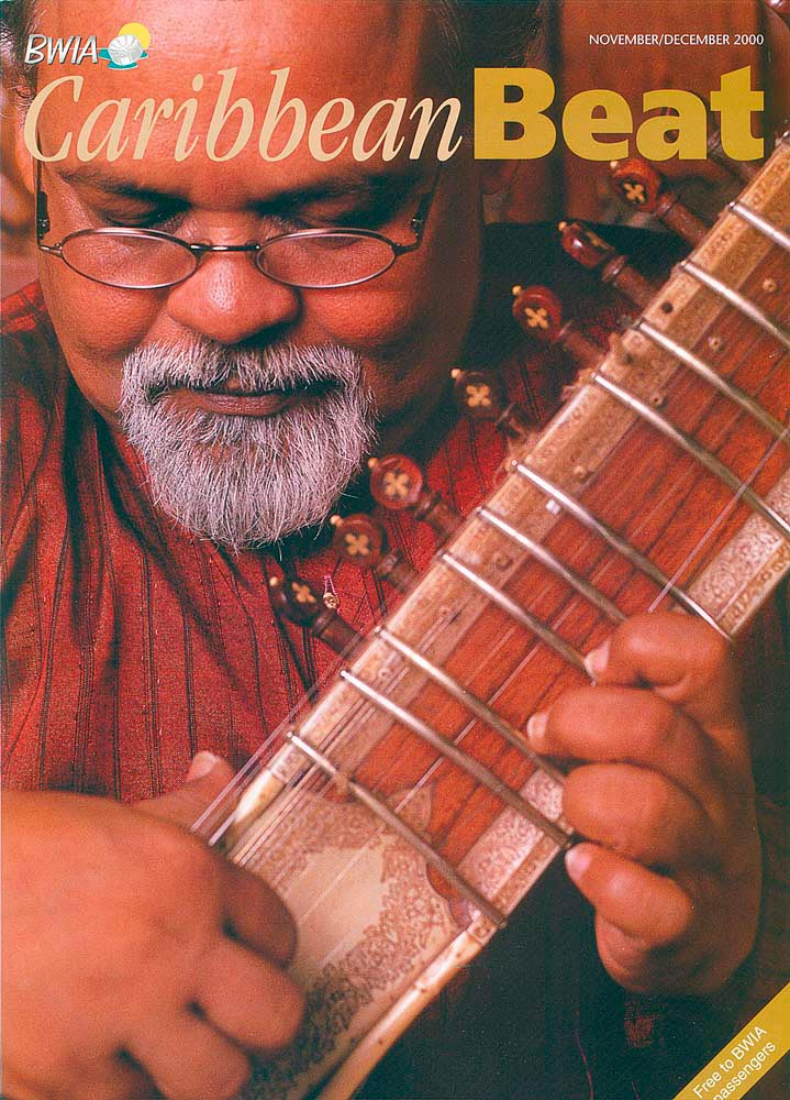 46 • Mungal Patasar on the sitar, November/December 2000. Photo by Mark Lyndersay