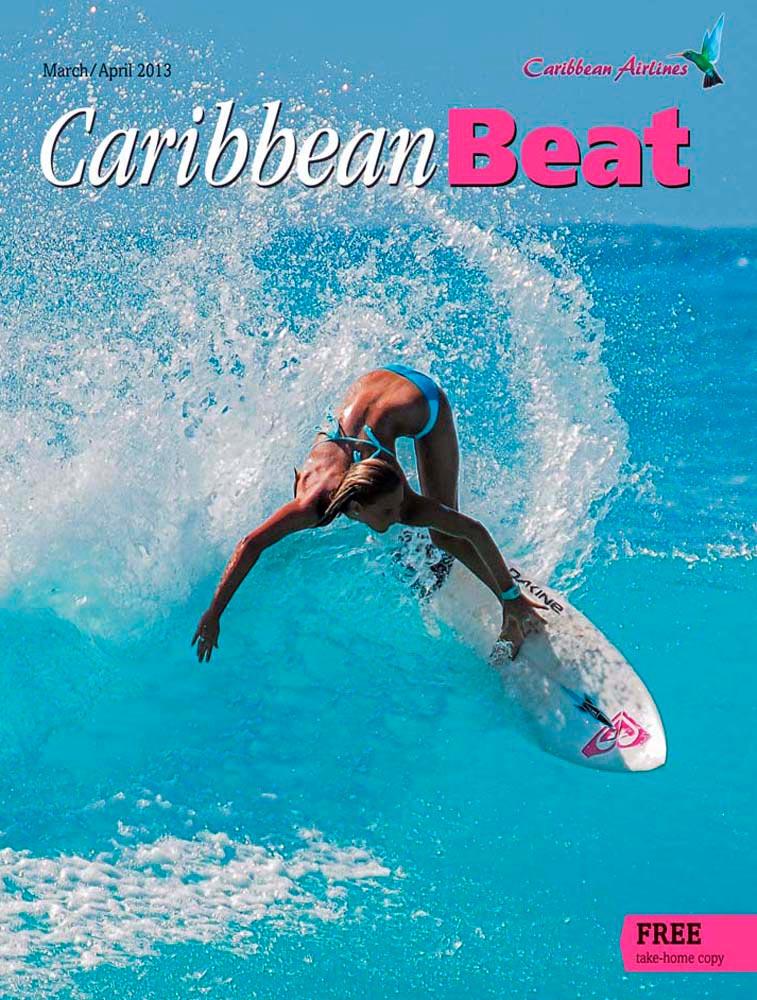 120 • Barbadian surfer Chelsea Tuach, March/April 2013. Photo by Mark Harris