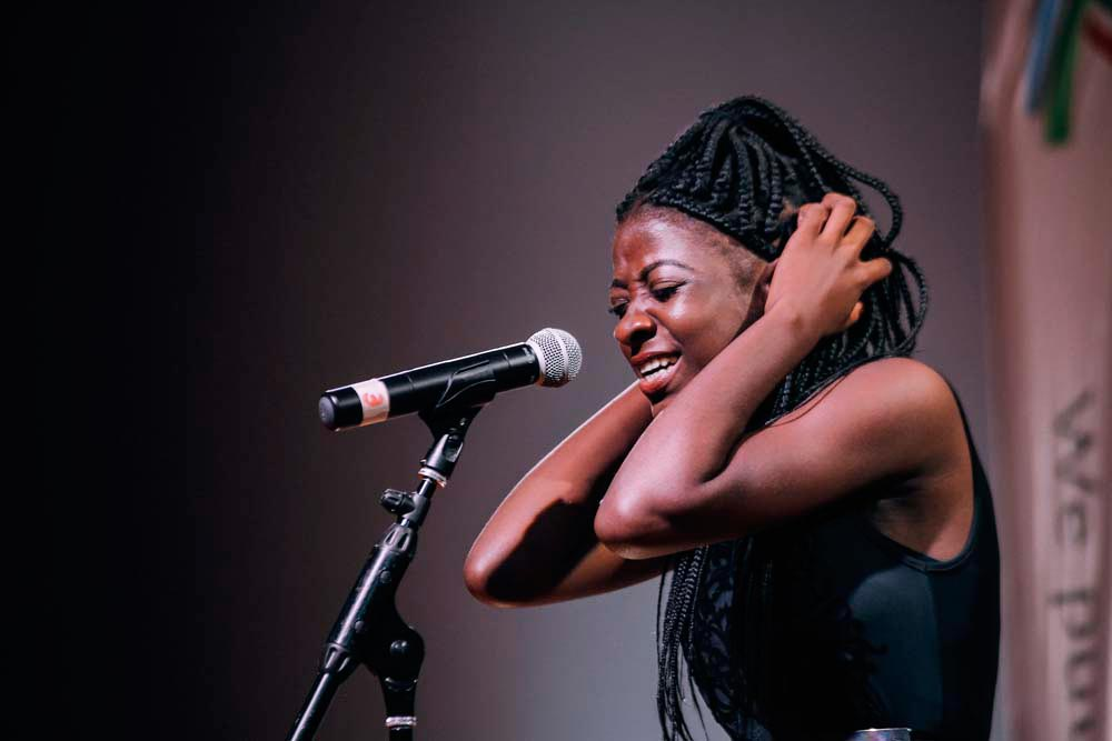 Shineque Saunders • Spoken word artist • Trinidad and Tobago, Born 1999. Photo by Curtis Henry, courtesy The 2 Cents Movement