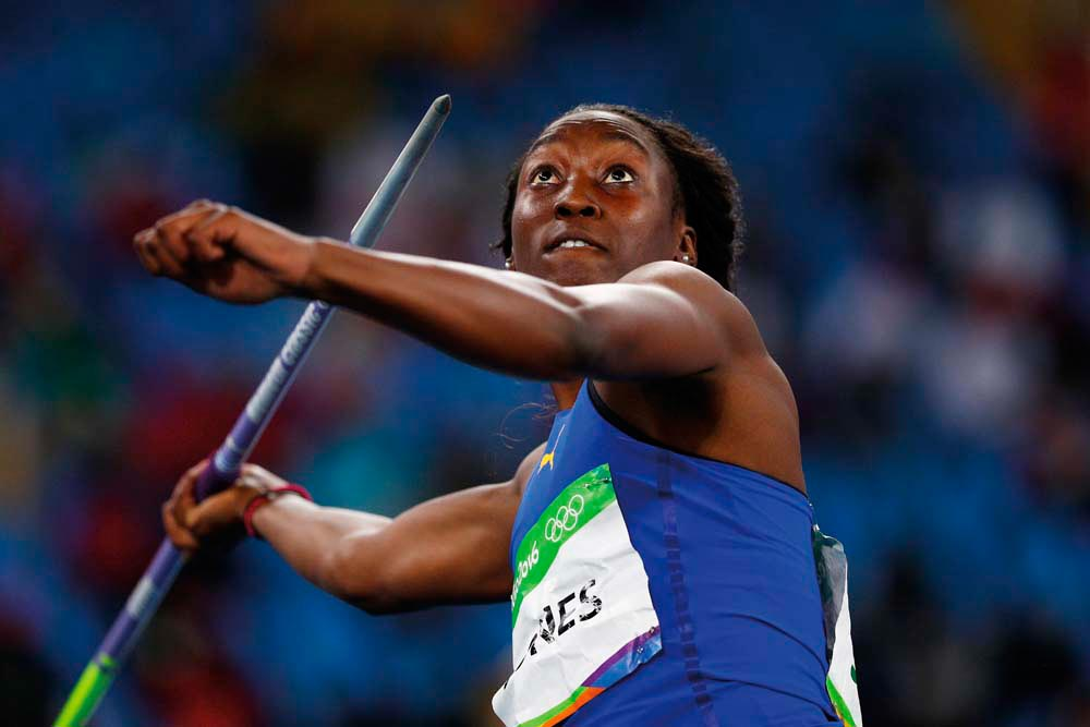 Akela Jones • Athlete • Barbados, Born 1995. Photo by  Ian Walton / Getty