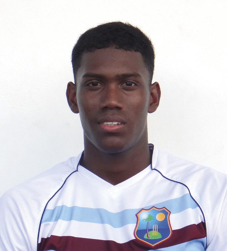 Keemo Paul • Cricketer • Guyana, Born 1998. Photo by Ashley Allen / WICB Media