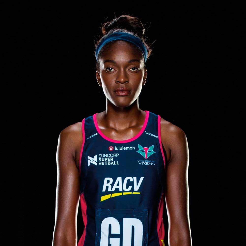 Kadie-Ann Dehaney • Netball player •Jamaica, Born 1996. Photo courtesy Melbourne Vixens