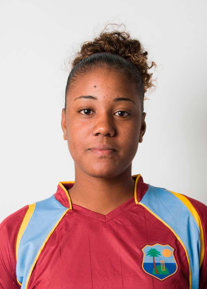 Hayley Matthews • Cricketer • Barbados, Born 1998. Photo by Randy Brooks/WICB Media