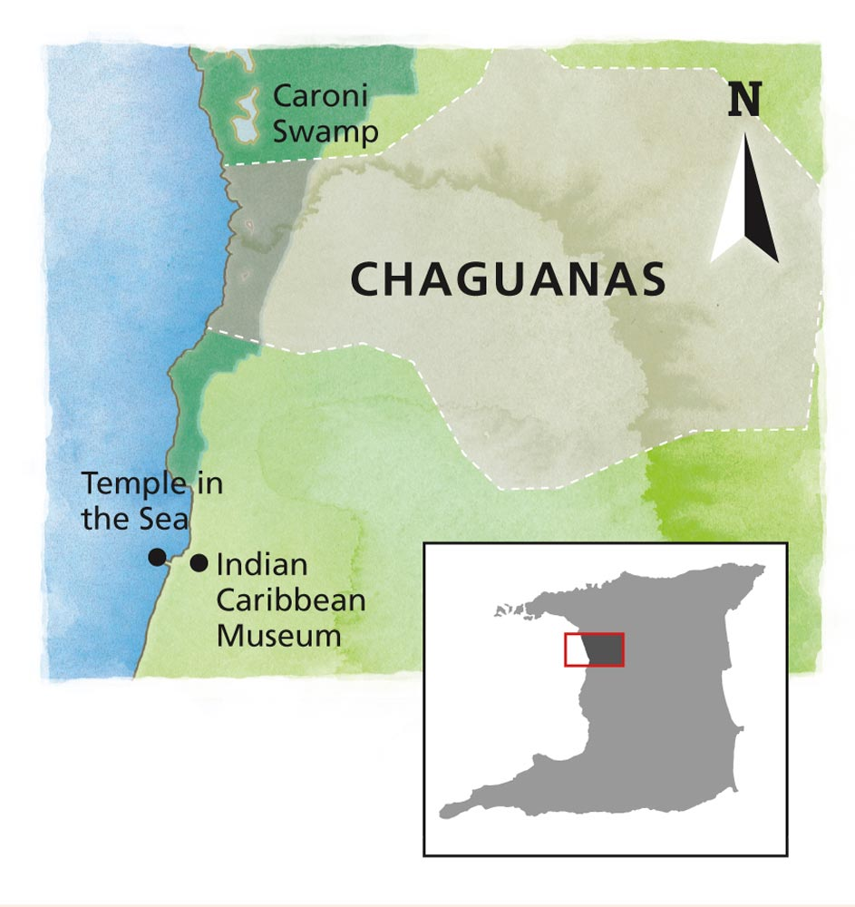 Chaguanas area map