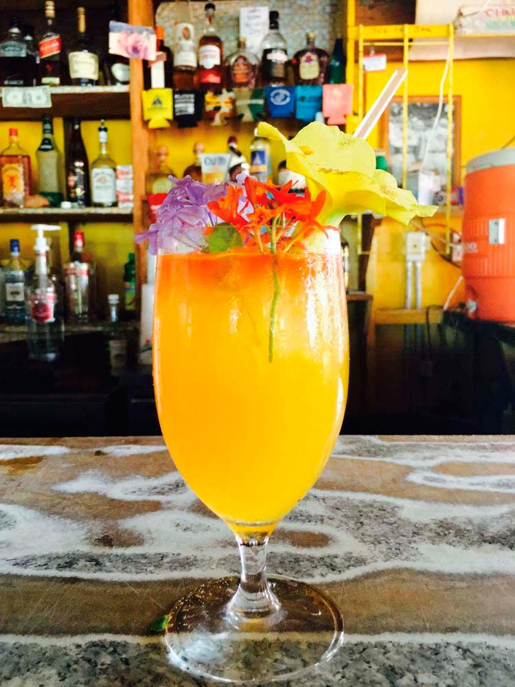 The delicious but deadly Killer Bee, Sunshine's trademark rum cocktail. Photo courtesy Sunshine's Bar
