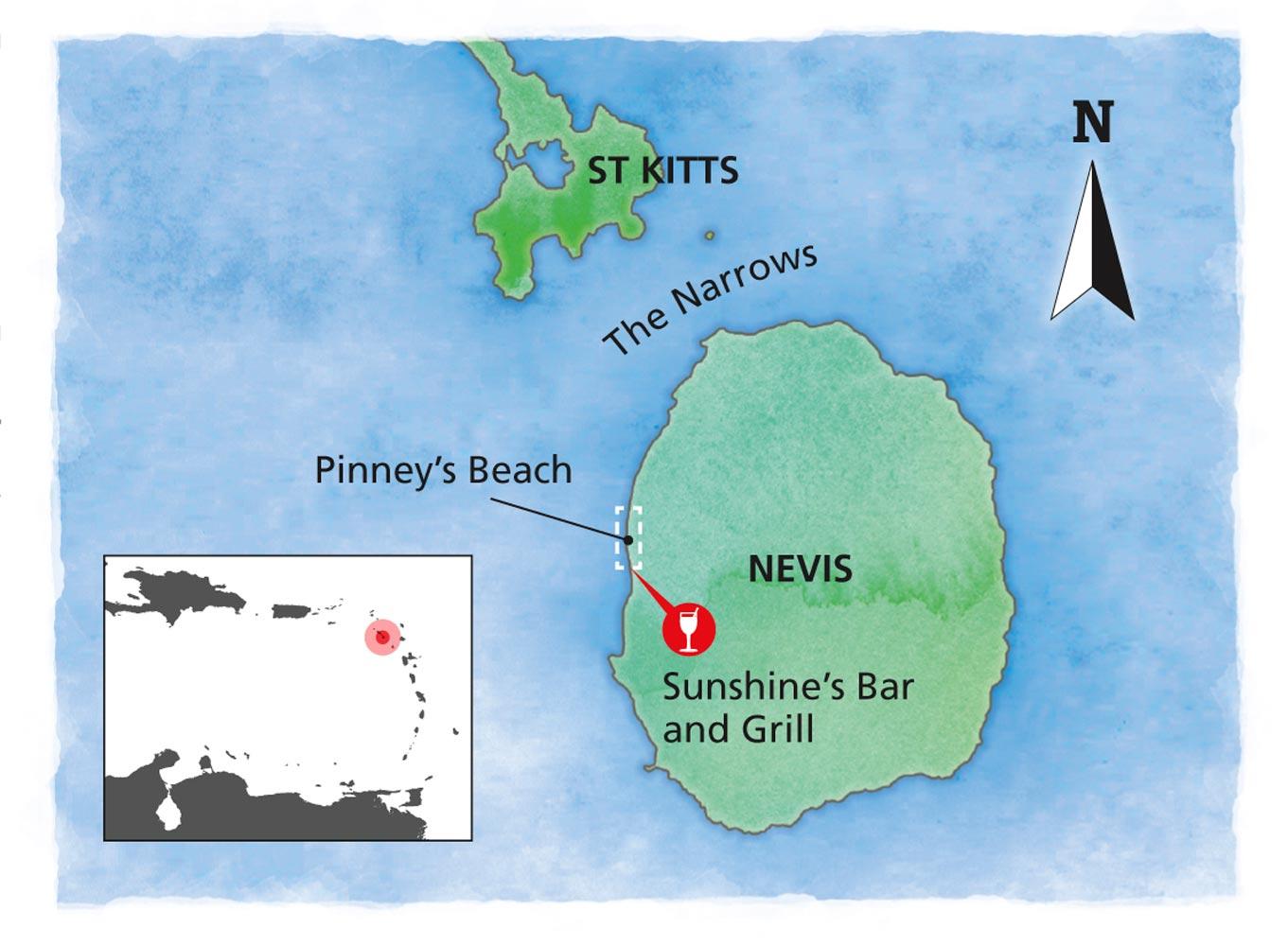 St Kitts & Nevis map
