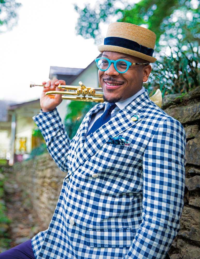 Jazz musician Etienne Charles. Photo by Maria Nunes