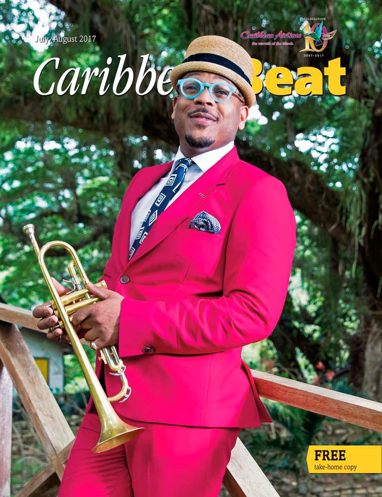 Trinidadian jazz musician and composer Etienne Charles. Photo by Maria Nunes