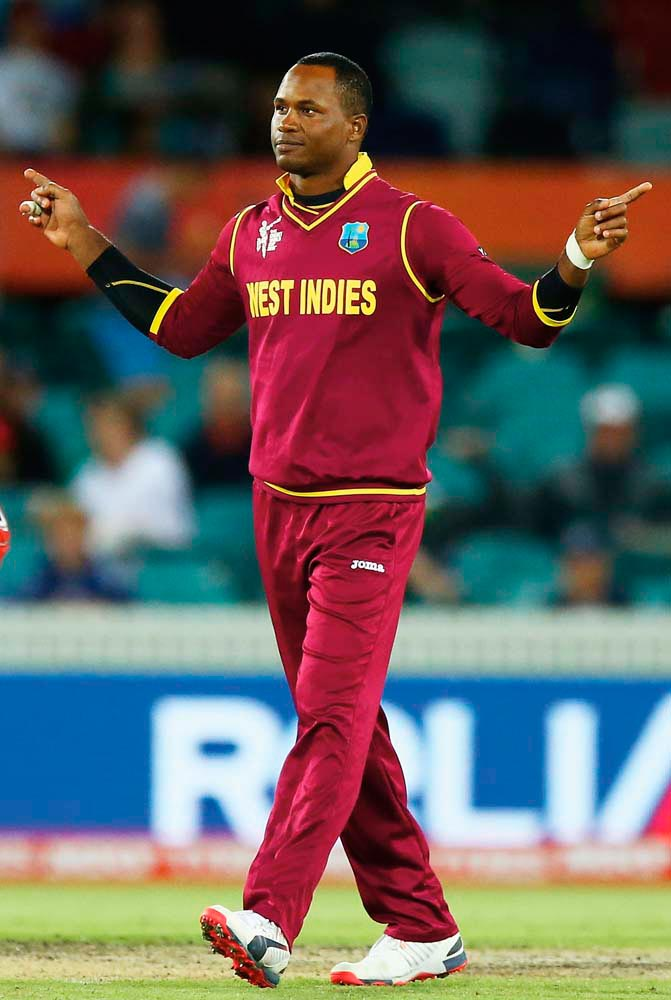 Jamaican Marlon Samuels joins the St Lucia Stars for CPL 2017. Photo by Mark Nolan IDI/IDI via Getty Images