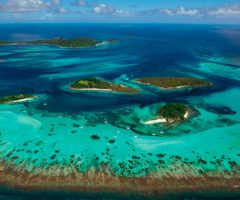 Protected by a marine park, the uninhabited Tobago Cays and nearby Horseshoe Reef, in the southern Grenadines, are a paradise of shallow turquoise water, accessible only by boat. Photo by Jonathan Palmer/Mustique Airways