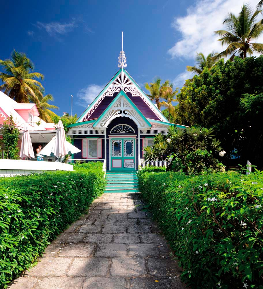 Privately owned Mustique, dotted with colourful villas and cottages, has long been a retreat for the international jet set. Photo by Kay Wilson