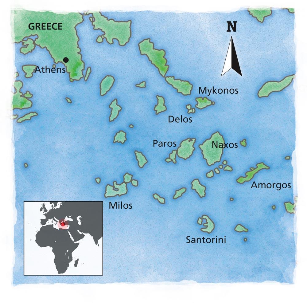 The Greek Islands map