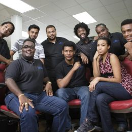 Programmers, artists, and management of Coded-Arts at the company's U-Start incubator offices in Caroni, Trinidad. Photo by Mark Lyndersay