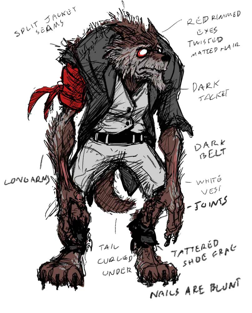 Concept art for the game Le Loupgarou, in development by Couple Six. Artwork courtesy Couple Six