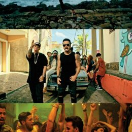 "Stills from the record-breaking ""Despacito"" video"