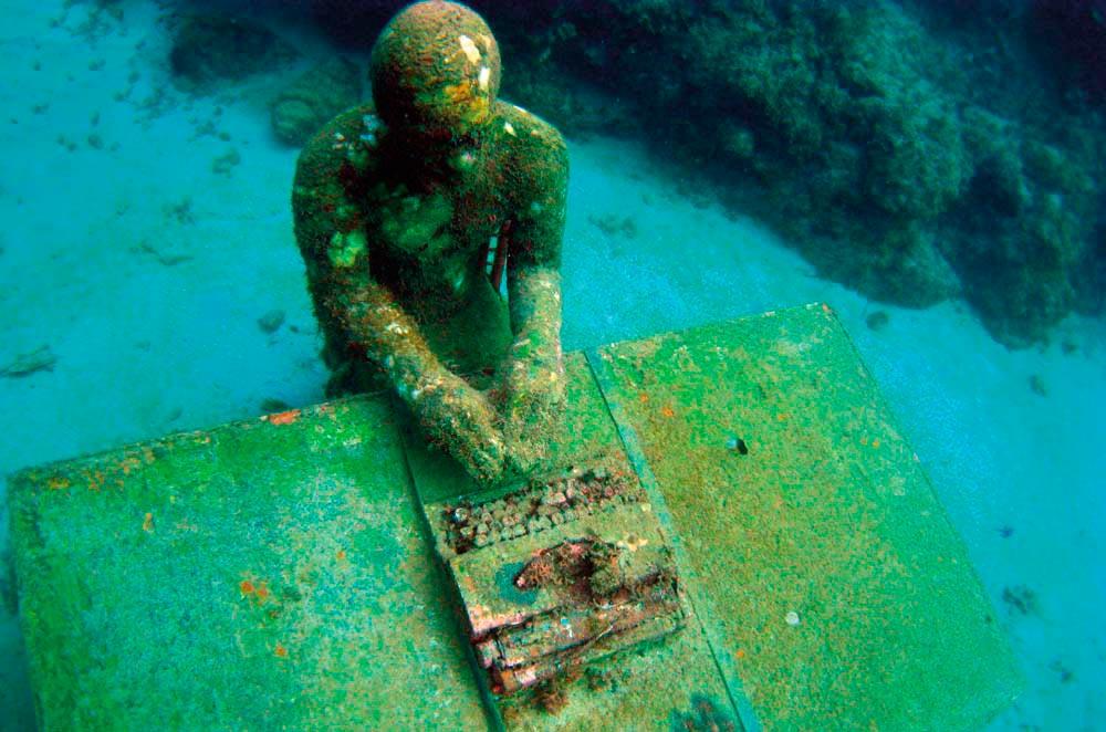 Grenada Underwater Sculpture Park. Photo by R Gombarik/Shutterstock.com