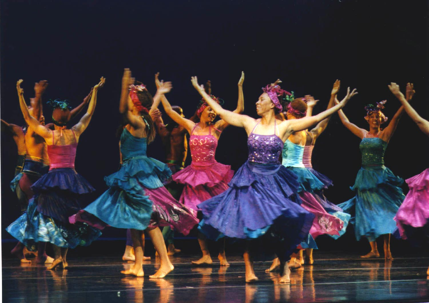 Ritual of the Sunrise, choreographed by Rex Nettleford. Photograph by Denis Valentine