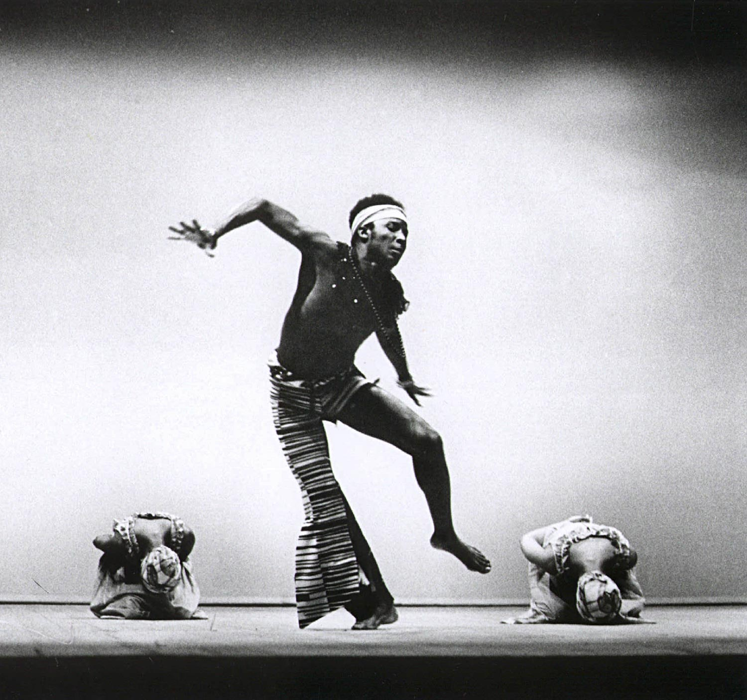 """Rex Nettleford, NDTC's """"moving spirit"""", co-founder and current Artistic Director, in the lead role of Myal. Photograph by Maria Layacona"""