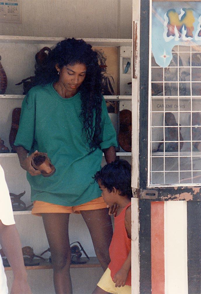 Oonya with son. Photograph courtesy Oonya Kempadoo