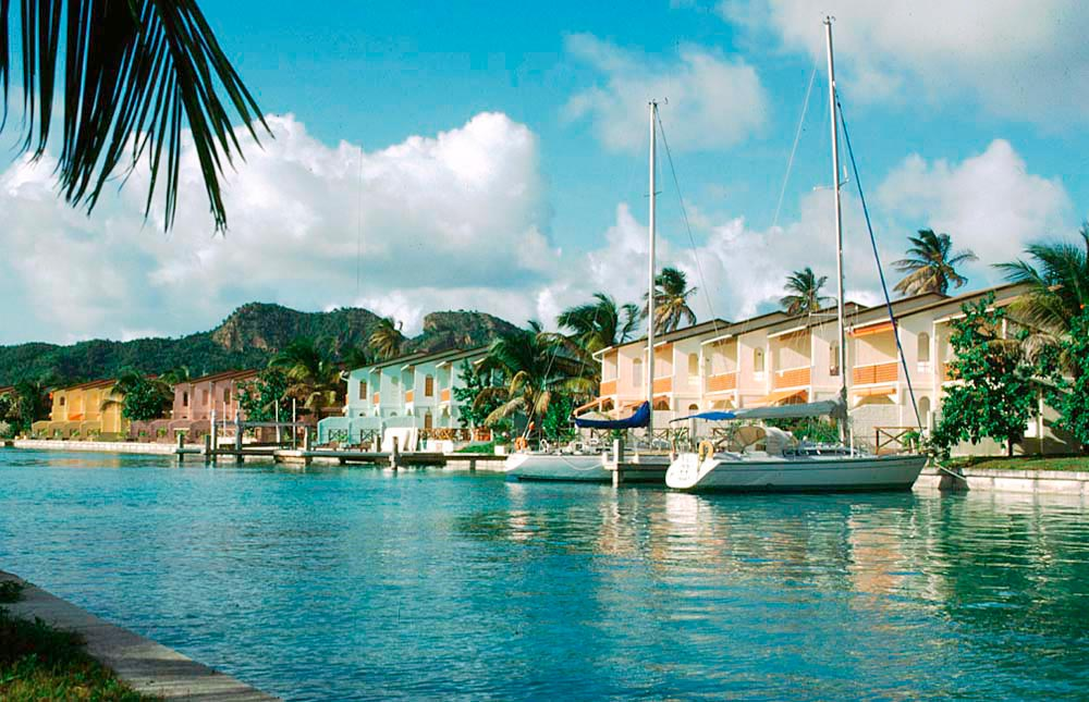 Jolly Harbour Marina. Photo by Alexis Andrews/Jolly Harbour