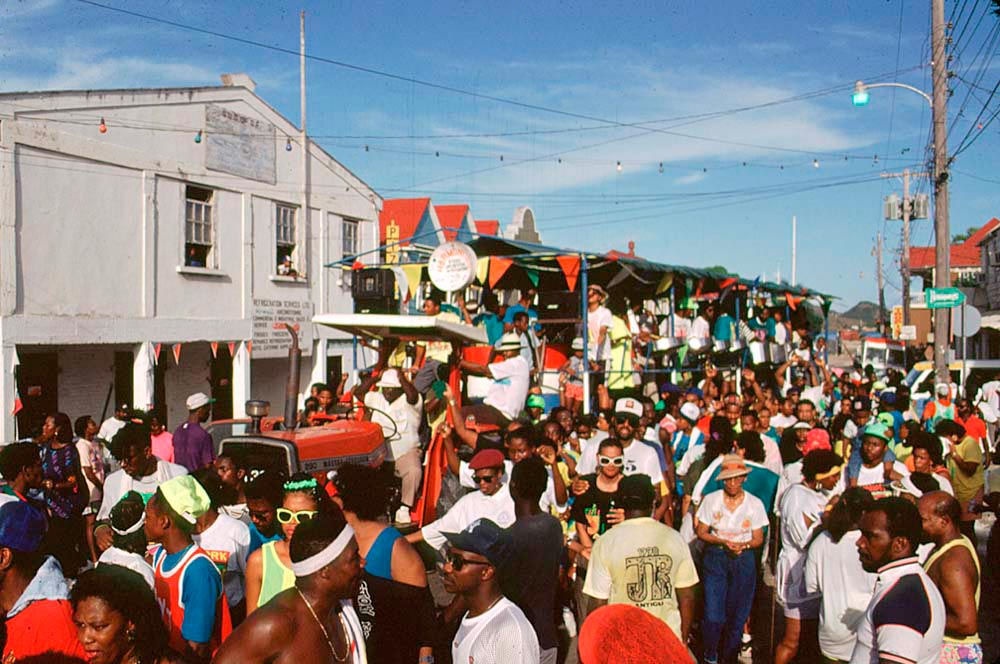 Down the road for Antigua Carnival. Photo by Allan Aflak