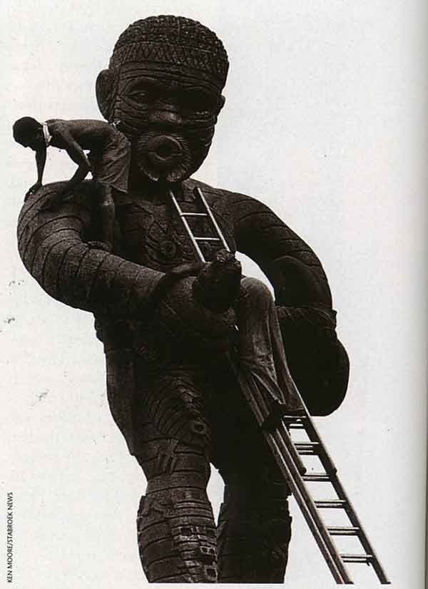 The controversial 1763 Monument. Photograph by Ken Moore/ Stabroek News